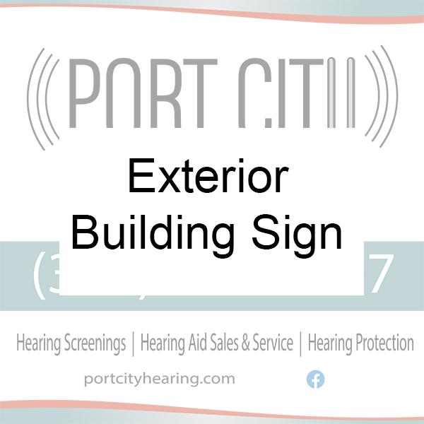 Port City Hearing Exterior Sign